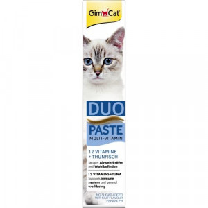 Лакомство для кошек GimCat Multi-Vitamin Duo-Paste Tuna + 12 Vitamins 50 г (мультивитамин)