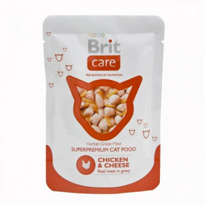 Brit Care Cat pouch 80 г курица и сыр