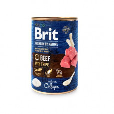 Brit Premium by Nature 400 г говядина с требухой